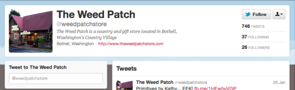 Weed Patch on Twitter, localgrowth blog